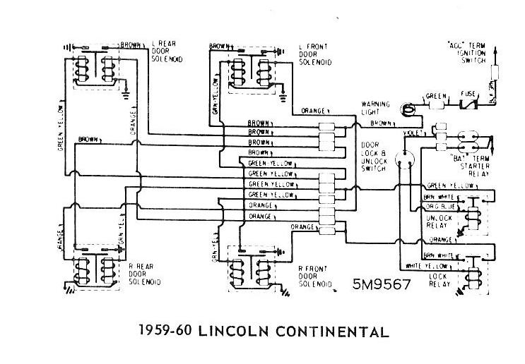 1959 60 Lincoln Continental Door Locks ford diagrams 1959 ford wiring diagram at gsmx.co