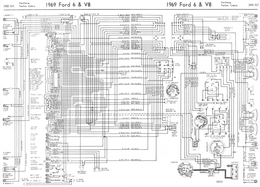 1969 Torino wiring diagram ford diagrams 1967 Mustang Alternator Wiring at soozxer.org