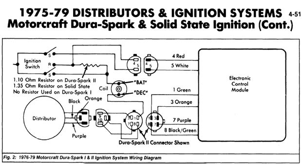 1975-1979 DuraSpark mustang ignition control module schematic ...