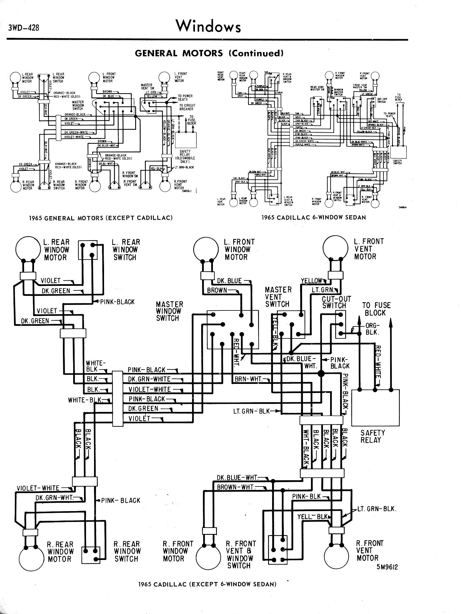 Chevy Diagrams 1970 Nova Wiring Diagram Power Windows 65 Gm Including The 6 Window Cadillac