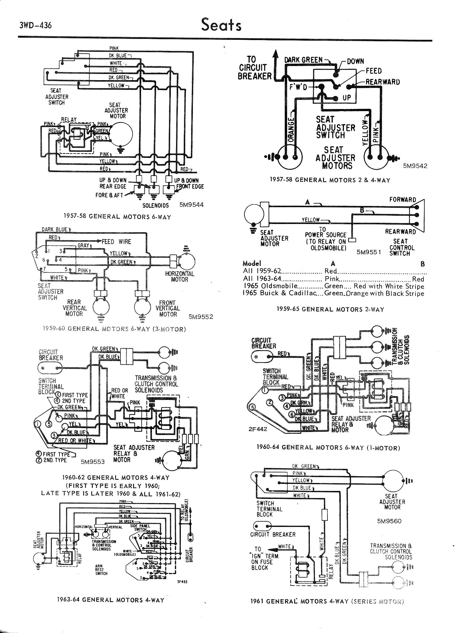 chevy diagrams c 57 64 gm a mix of 2 way 4 way 6 way