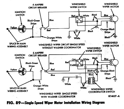 falcon diagrams Wiper Motor Diagram 1963 single speed windshield wiper diagram