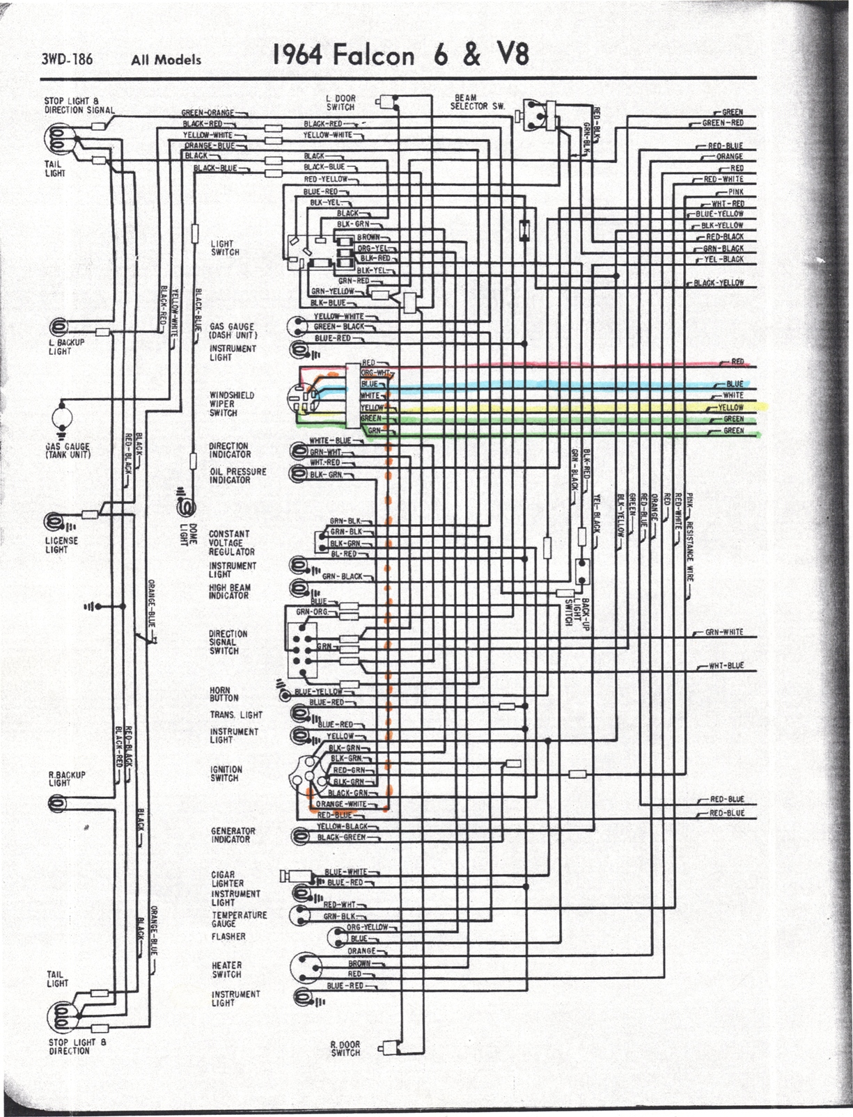 falcon diagrams rh wiring wizard com 1964 ford falcon futura wiring diagram
