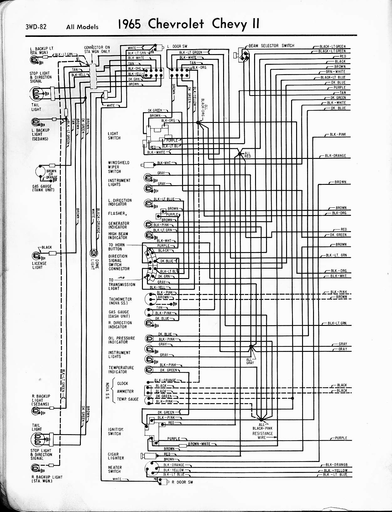 MWireChev65_3WD 082 1967 chevy ii wiring diagram 1967 wirning diagrams light switch diagram 1960 chevy pickup at soozxer.org