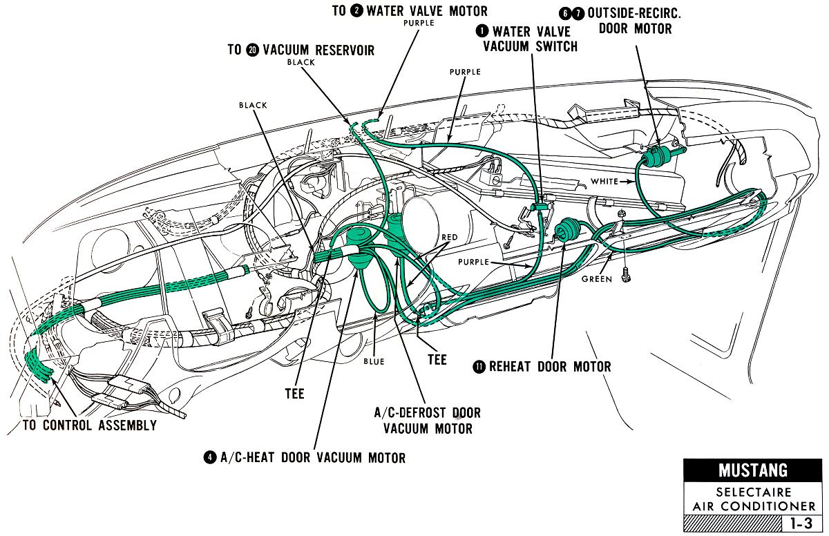 67MustangVacumeTubeRouting AC ford diagrams mustang wiring harness diagram at bayanpartner.co