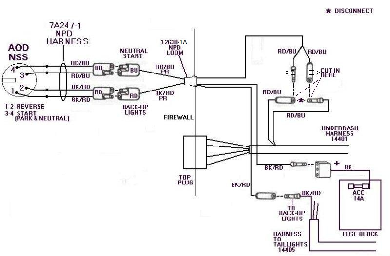 AOD NetSafetySwitch ford diagrams ford aod neutral safety switch wiring diagram at fashall.co