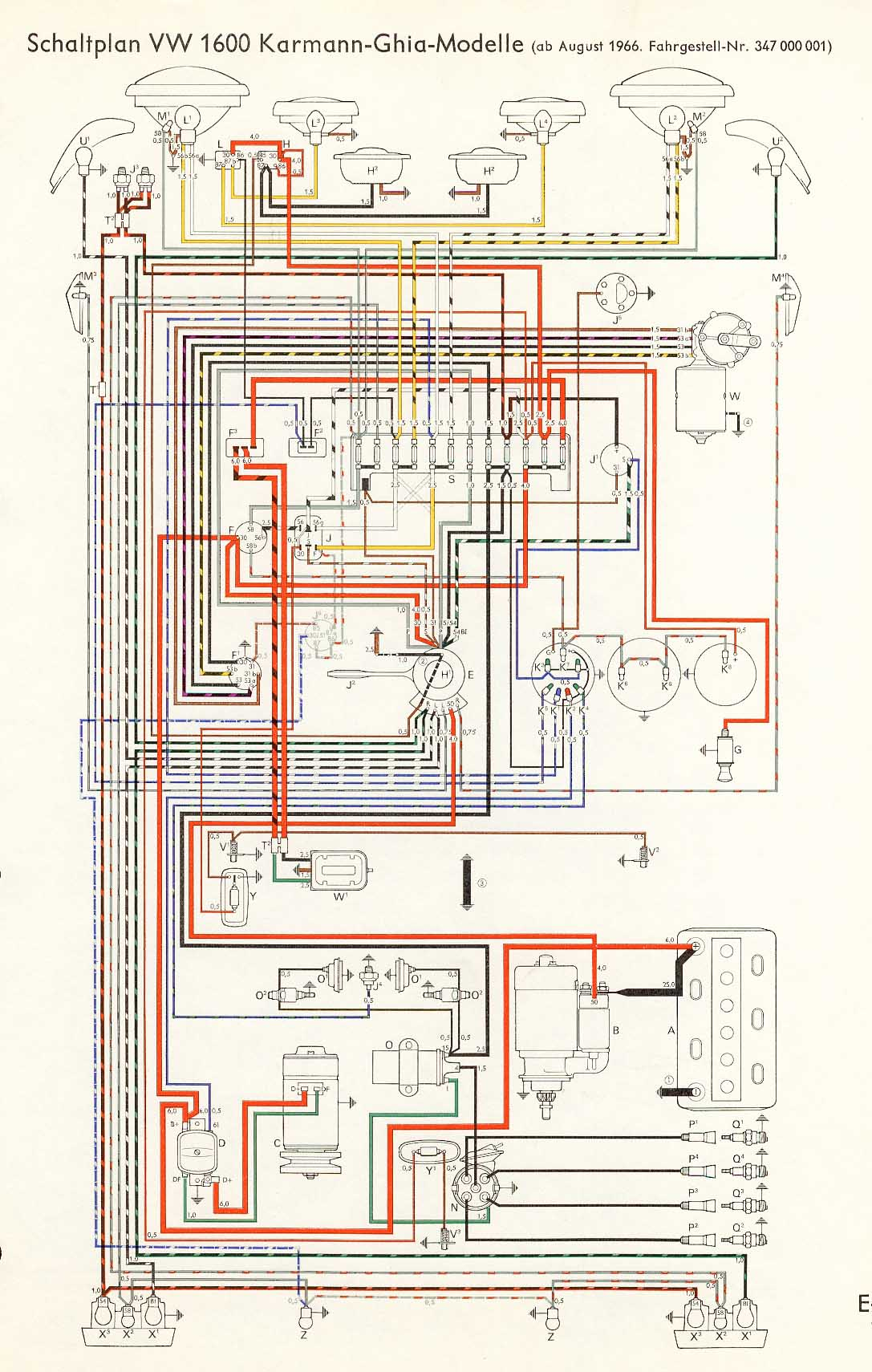 1970 Vw Tach Wiring Diagram Great Design Of 74 Alternator Karmann Ghia 32 1974 Bug