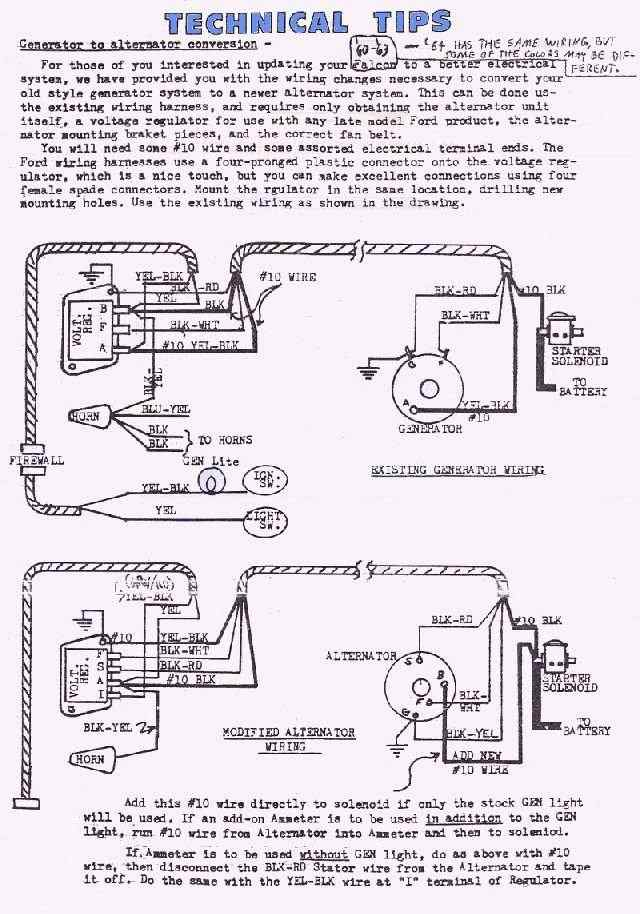 [XOTG_4463]  Ford Diagrams | 1966 Ford Alternator Diagram Wiring Schematic |  | The Wiring Wizard
