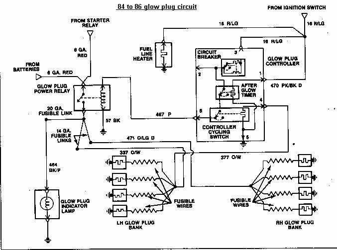 ford diagrams 1984 to 86 ford glow plug wiring drawing a