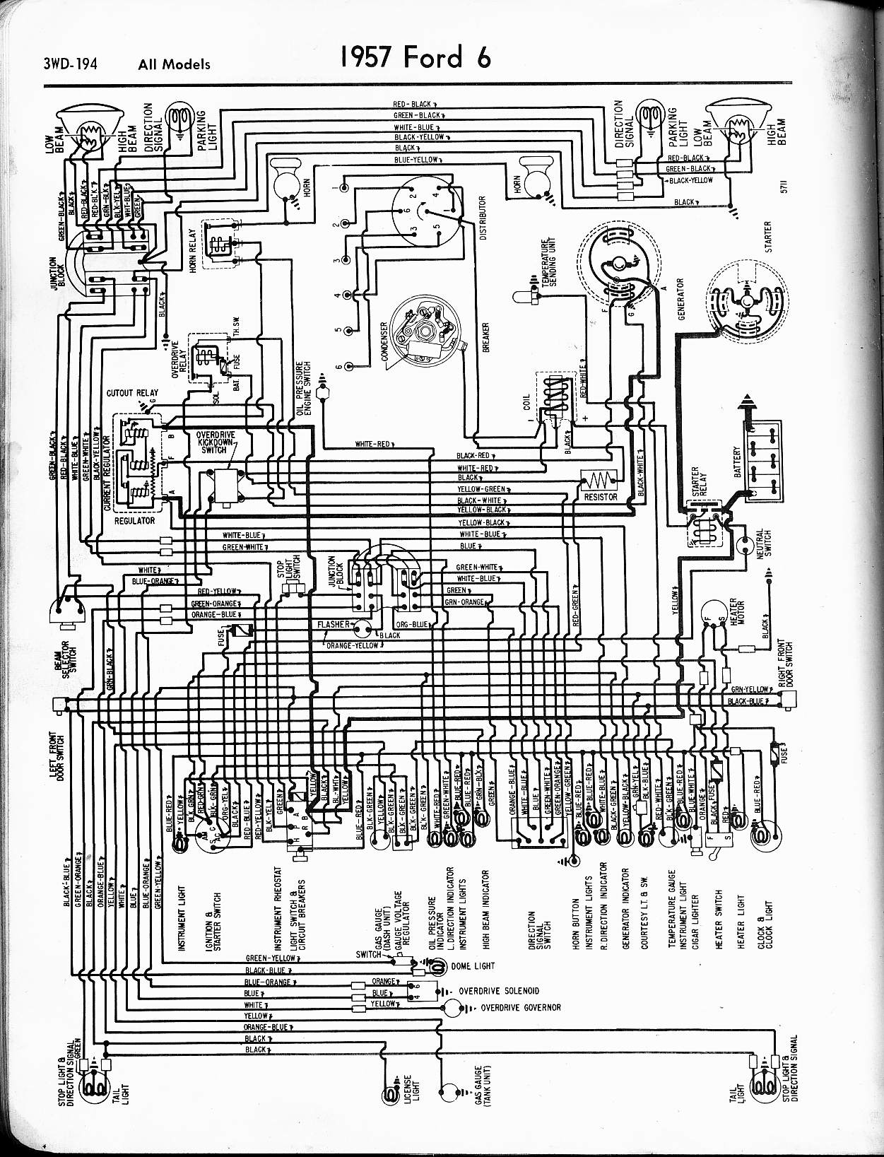 Ford Diagrams Fog Light Switch Wiring Diagram Also 3 Wire Trailer Tail Alternator System With A Figure And Such 57 Drawing