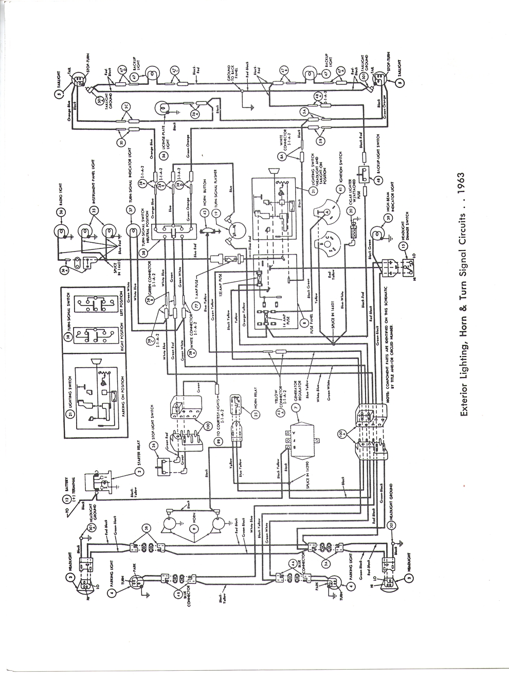Falcon Diagrams 89 F150 Wiring Harness Complete Diagram For A 1963 Figure 1