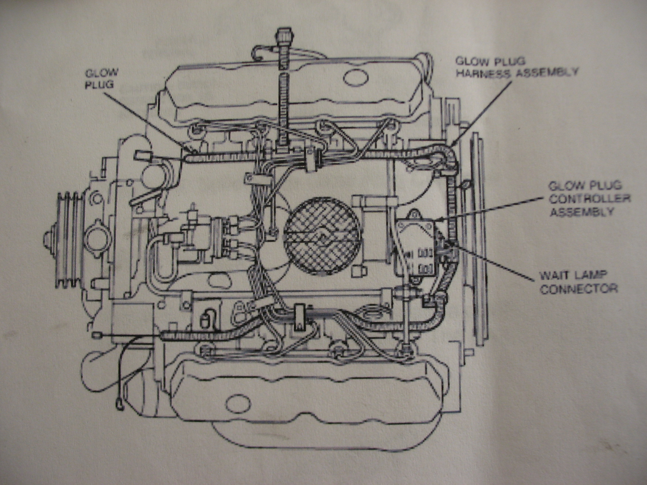 1990 F800 Diesel Wiring Diagram Library F350 91 Ford Glow Plug Location On Engine Drawing A