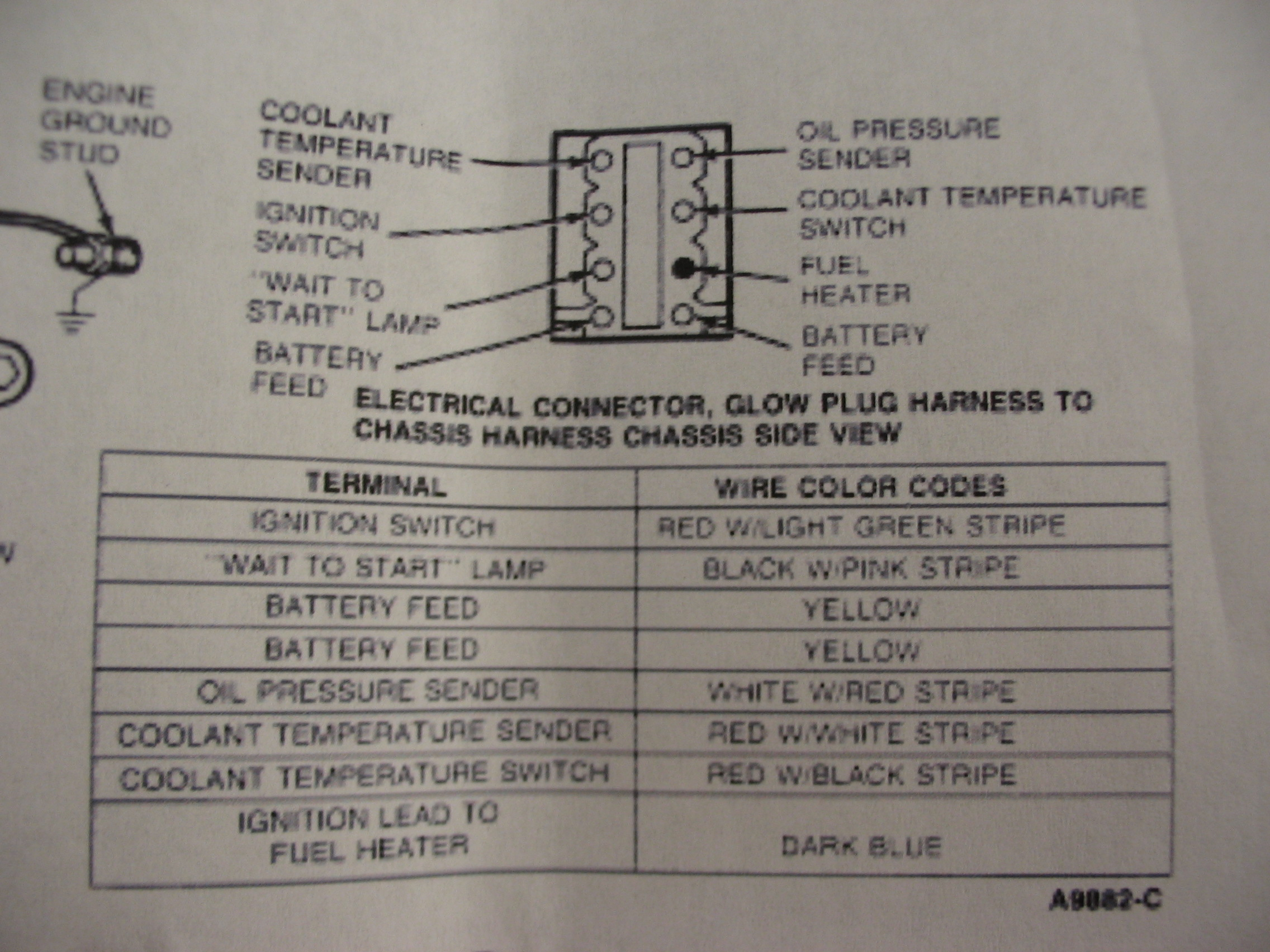Ford Diagrams M1009 Glow Plug Wiring Diagram 91 Harness Pin Outs